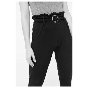 Paper Bag Jogger Pants w/Belt Slim Fit NWT